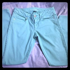 American Eagle Stretch Mint Green Skinny jeans